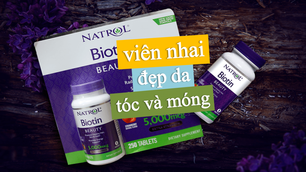 Vien-ngam-huong-dau-Natrol-Biotin-Beauty-5000mcg-Extra-Strength