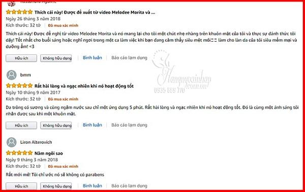 Mặt nạ saborino review từ khách hàng 1