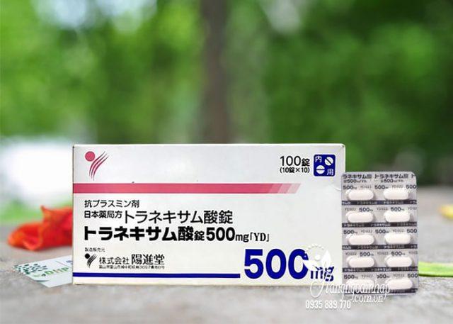 thuốc làm trắng da, điều trị nám tàn nhang Transamin 500mg