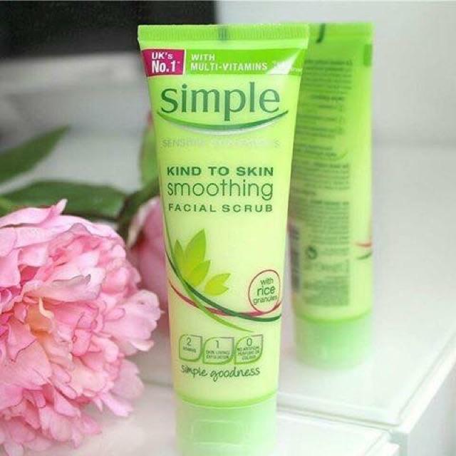 sản phẩm trong trọn bộ skincare simple 1