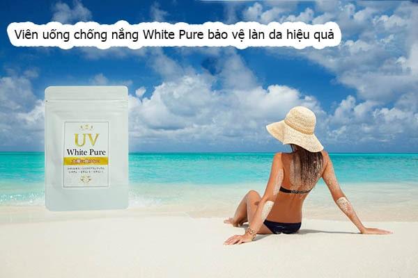 Viên uống chống nắng UV White Pure Review + giá bao nhiêu là chuẩn